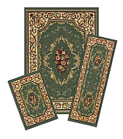 Achim Rose Garden Capri 3-pc. Rug Set