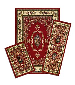 Achim Red Savonnerie Capri 3-pc. Rug Set