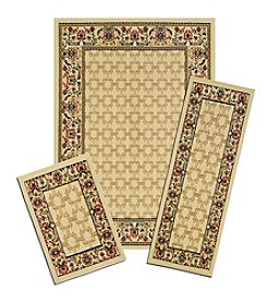 Achim Golden Lattice Capri 3-pc. Rug Set