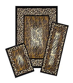 Achim Leopard Skin Capri 3-pc. Rug Set
