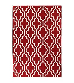 Bashian Hampton Collection Red-FW6 Area Rug