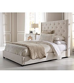 Home Meridian Contemp Shelter Cream Queen Upholstered Headboard & Footboard Collection