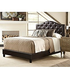 Home Meridian Upholstered Tufted Brown Queen Bed