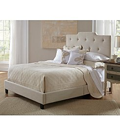 Home Meridian Upholstered High Back Queen Bed