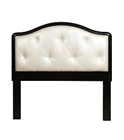 Home Meridian Pearl Upholstered Headboard with Nailhead Trim