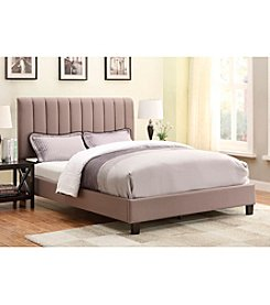 Home Meridian Anabelle Queen Sterling Taupe Upholstered Bed