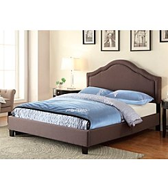 Home Meridian Trespass Queen Slate Upholstered Bed