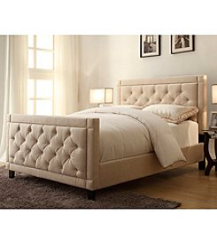 Home Meridian Nusilk Oyster Queen Upholstered Bed Collection