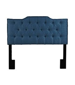 Home Meridian Tuxedo Denim Upholstered Headboard