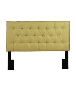 Home Meridian Tuxedo Lime Upholstered Headboard