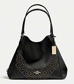 COACH MINI STUDS EDIE SHOULDER BAG IN PEBBLE LEATHER