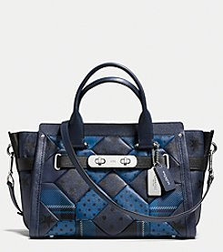 COACH SWAGGER CARRYALL IN PRINTED PATCHWORK LEATHER