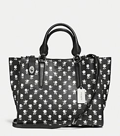 COACH CROSBY CARRYALL IN PRINTED CROSSGRAIN LEATHER