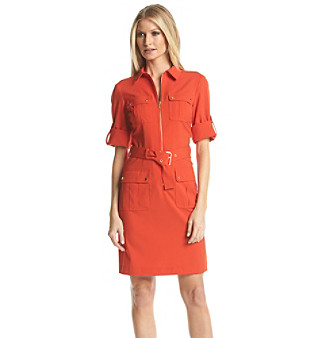 UPC 889154162211 product image for MICHAEL Michael Kors® Roll Sleeve Belted  Shirt Dress | upcitemdb ...