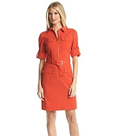 MICHAEL Michael Kors® Roll Sleeve Belted Shirt Dress