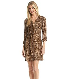 MICHAEL Michael Kors® Printed Chain Tie Dress