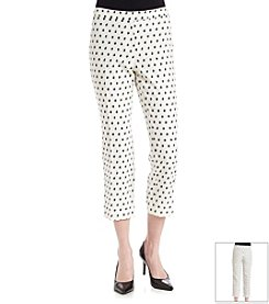 Anne Klein® Clipped Jacquard Long Pants