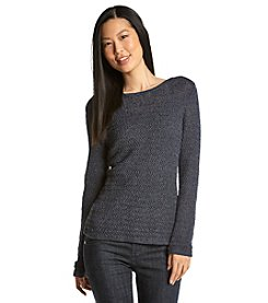 Anne Klein® Pullover Tape Yarn Sweater