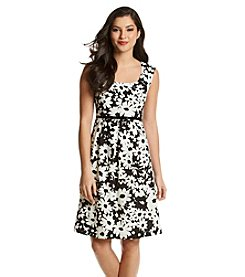 Kasper® Floral Belted Dress