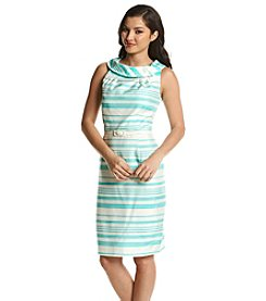 Madison Leigh® Roll Collar Striped Dress