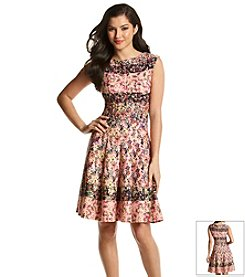 Julian Taylor Multi Floral Scuba Dress