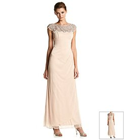 Xscape Illusion Beaded Gown