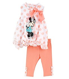 Nannette® Baby Girls' Minnie Mouse Dot Bubble And Leggings Set