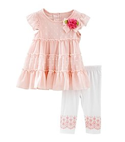 Nannette® Baby Girls' 2-Piece Tiered Dress Set