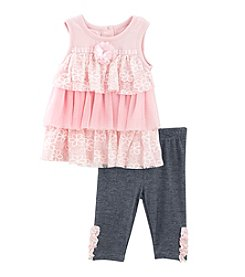Nannette® Baby Girls' 2-Piece Dress And Leggings Set