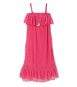 Beautees Girls' 7-16 Crochet Maxi Dress