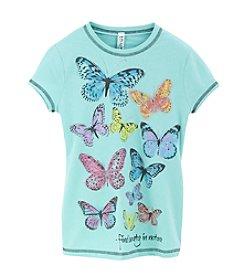 Beautees Girls' 7-16 Butterflies Screen Tee