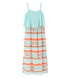 Sequin Hearts Girls' 7-16 Popover With Print Dress
