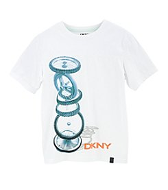 DKNY® Boys' 8-20 Short Sleeve Stack It Up Tee