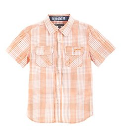 DKNY® Boys' 2T-20 Short Sleeve Button Up Shirt