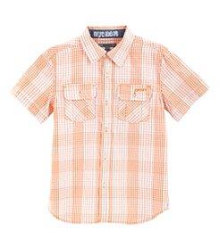 DKNY® Boys' 2T-20 Short Sleeve Button Up Shirt