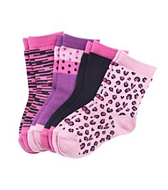 Miss Attitude Girls' Pink Crew Socks