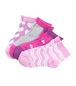 Miss Attitude Girls' Chevron Quarter Socks