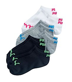 PUMA® Girls' 6-Pack No Show Socks