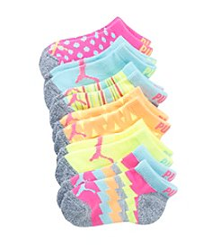 PUMA® Girls' 6-Pack Neon Chevron Socks