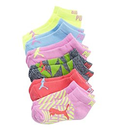 PUMA® Girls' 6-Pack Pastel Print Socks