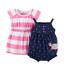 Carter's® Baby Girls' 2-Piece Dress & Romper Set