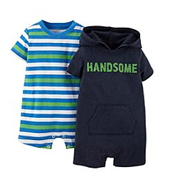 Carter's® Baby Boys' 2-Piece Multi Stripe Rompers Set