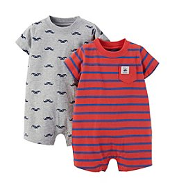 Carter's® Baby Boys' 2-Piece Heathered Print Romper Set