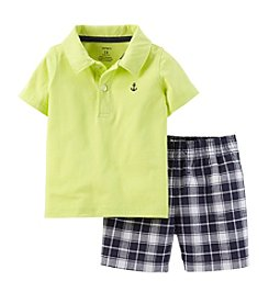 Carter's® Baby Boys' 2-Piece Jersey Top & Plaid Shorts Set
