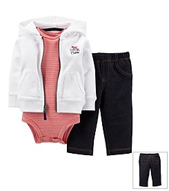 Carter's® Baby Boys' 3-Piece French Terry Hooded Cardigan Outfit Set