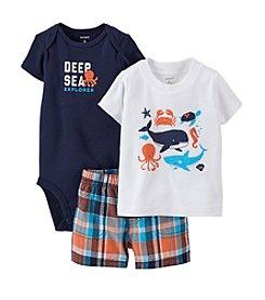 Carter's® Baby Boys' 3-Piece Bodysuit & Shorts Set