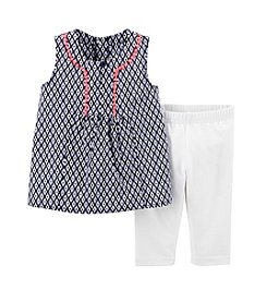 Carter's® Baby Girls' 2-Piece Woven Top & Leggings Set