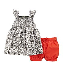 Carter's® Baby Girls' 2-Piece Sleeveless Top & Bubble Shorts Set