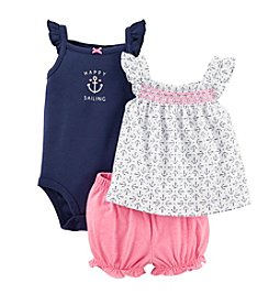 Carter's® Baby Girls' 3-Piece Sailing Bodysuit Set