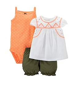 Carter's® Baby Girls' 3-Piece Polka Dot Bodysuit Set